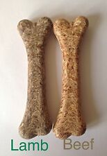 Antos Meaty Bone x 2 ~ Lamb & Beef ~ Ground Rawhide ~ Long Lasting Dog Chews