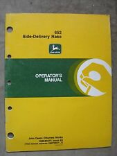 John Deere 652 Side Delivery Hay Rake operators manual Jde0