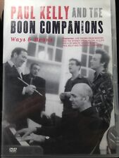 Paul Kelly And The Boon Companions DVD Ways & Means Live, All Region, Very Rare