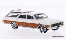Buick Sport Wagon 1965 blanco/madera piel 1:43 bos