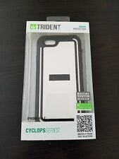 Trident Cyclops Sleek Armor Case For iPhone 6/6S White w/built in Screen Protect