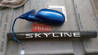 NISSAN SKYLINE R33 PASSENGER SIDE MIRROR in blue # 1795