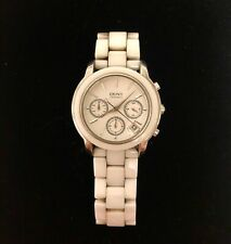 DKNY White Ceramic/Stainless Steel Watch