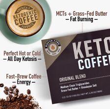 KETO COFFEE Rapid Fire Medium Roast MCT Grass Fed Fat-Burning Weight Loss K Cup