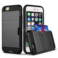 Slim Sleek Case With ID Credit Card Slot Holder Cover For iPhone 5+6+7/Samsung X