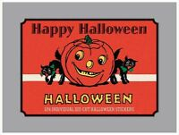 HAPPY HALLOWEEN DIE-CUT LABELS STICKERS VINTAGE INSPIRED BOX