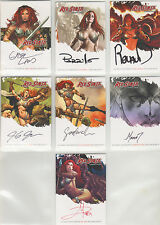 Red Sonja Trading Cards by Breygent - Master Set of 106 cards (7 are Autographs)