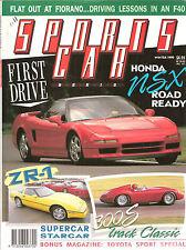 Sports Car World 1990 W Honda NSX Corvette ZR Celica GT Mustang Mercedes 500SL