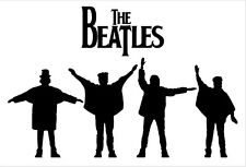 "The Beatles ""HELP"" car bumper sticker decal 5"" X 7"""