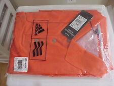 New Adidas Mcl Sld S/S Polo Shirt (Orange) Xl