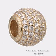 Authentic Pandora 14kt Gold Pave Lights CZ Bead 750819CZ  *SPECIAL*