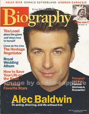 ALEC BALDWIN Donald Sutherland KELLY RIPA Tea Leoni AUDREY HEPBURN magazine Alex