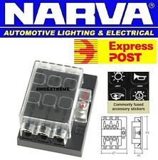 NARVA 54431 6 WAY STANDARD ATS BLADE FUSE PANEL BOX SUIT PLUG IN CIRCUIT BREAKER