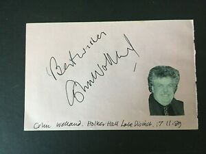 COLIN WELLAND - ACTOR & DIRECTOR - KES - SIGNED ALBUM PAGE