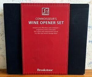 Brookstone Connoisseur's Wine Opener Set OPEN BOX Alcohol 309971