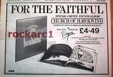 "HAWKWIND Church Of Hawkwind 1982  UK Press ADVERT 12x8"""