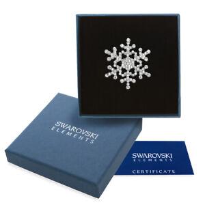 Spilla argento Swarovski Elements originale G4Love cristalli fiocco neve regalo