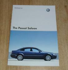 Volkswagen VW Passat Saloon Brochure 2004 SE Sport Highline V5 V6 4.0 W8 1.9 TDI
