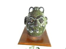 marvin bailey double face jug  folk art pottery 10''x 8''