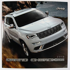 2018 Jeep Grand Cherokee 38-page Sales Brochure Catalog - Slightly Damaged
