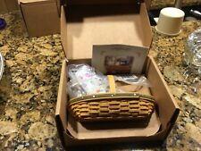 Longaberger May Series Miniature Peony Basket Combo new in box