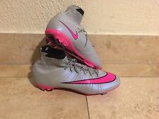 New Men's Nike Mercurial Superfly FG Wolf Grey Hyper Pink 641858-060 Sz 13