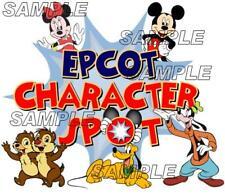 Disney World Epcot Character Spot Mickey Minnie Scrapbook Paper Die Cut Piece