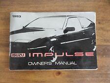 1983 Isuzu Impulse Owners Manual