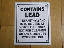 Tanksäule Tankzapfsäule USA gaspump decal pompe essence Contains Lead Aufkleber