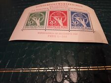 Germany West, Berlin 1949 Mini-Sheet 1, Gapfiller. Re-Print in MNH.