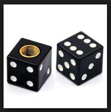 2x Ventil - Kappen Würfel schwarz - black Cube