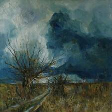 "Oil painting "" November "" -   70cm x 70cm,  Justyna Kopania"