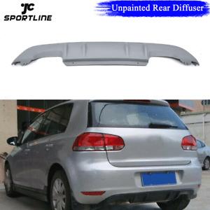 Unpainted Rear Bumper Diffuser Lip Spoiler Fit For VW Golf 6 MK6 VI 2010-2013