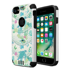 Dual Layer Armor Combat Case for iPhone 7 6s 6 - Sea Life Turtle