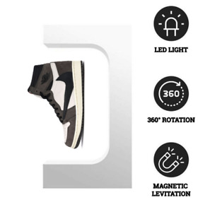 Floating Shoe Display Levitating Sneaker Stand WHITE w/ LED Remote! Ships TODAY