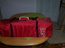 Babyreisebett, rot, von ESPRIT - neuwertig