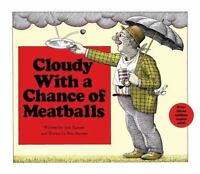 Cloudy with a Chance of Meatballs by Judi Barrett HARDCOVER -(Brand NEW)