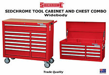 SIDCHROME ROLLER TOOL CABINET 13 DRAWER WIDEBODY + 8 DRAWER CHEST BOX SPECIAL