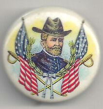 New listing Vintage President Us Grant Anniversary Pin w/ Crosed Swords & Us Flags