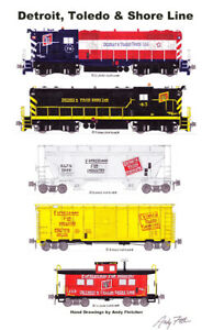 """Detroit & Toledo Shore Line 11""""x17"""" Poster by Andy Fletcher signed"""