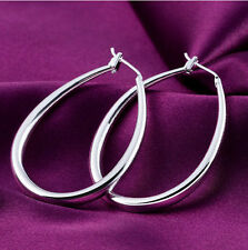 Fashion Plated Women Large U Hoop Dangle Earrings Jewelry