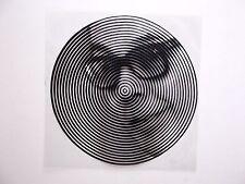 VICTOR VASARELY -  SERIGRAPHIE in Schwarz/ Weiß auf Folie - Rarität