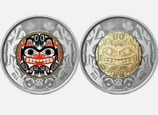🇨🇦 NEW Canada 2020 $2 Dollars Bill Reid UNCIRCULATED 2 pcs set from mint rolls