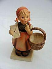 New ListingVintage Goebel Hummel Letter Basket Girl Meditation Germany Figurine