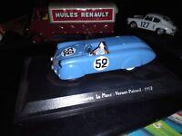 DIORAMA ARTISANAL SUR ELIGOR 4CV BARQUETTE LE MANS VERNET PAIRARD 1953