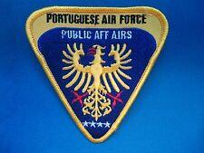 PORTUGAL PORTUGUESE AIR FORCE FORÇA AEREA PUBLIC AFFAIRS PATCH 92mm