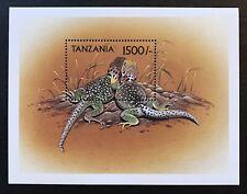 2000 TANZANIA LIZARD STAMPS SOUVENIR SHEET CHUCKWALLAS IGUANA FAMILY WILDLIFE