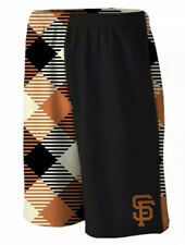 "Loudmouth San Francisco Giants ""Microwave"" Shorts Men's LARGE Black/Orange NWT"