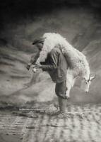 Antique Photo ... Mountaineer w/ Goat White Pass Yukon ... Photo Print 5x7