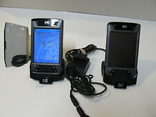 Lot Of 2 Hp Hx4700 Pocket Pc Pda With Docking Stations One For Parts